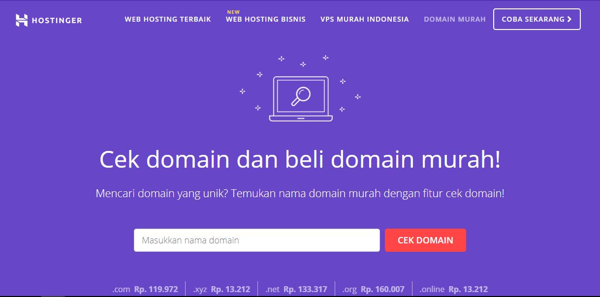 Cara membeli domain dengan memanfaatkan tool pengecek ketersediaan domain